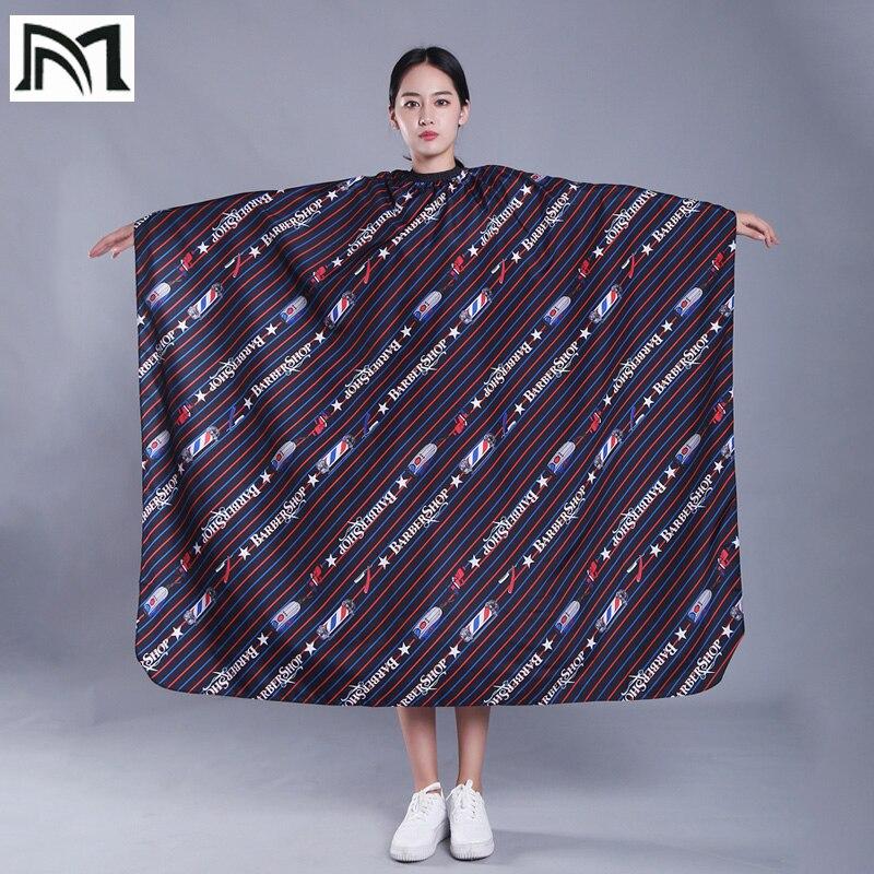 Купить с кэшбэком 145*160 cm Molticolor Polyester Salon Wrap Apron Stripe Leisure Style Peri Cloth Water-repellent Cape Hairdressing Assistant B2