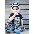 Retail 2016 new baby boy clothes ins Summer boy's set casual sport baby boy sets baby clothes