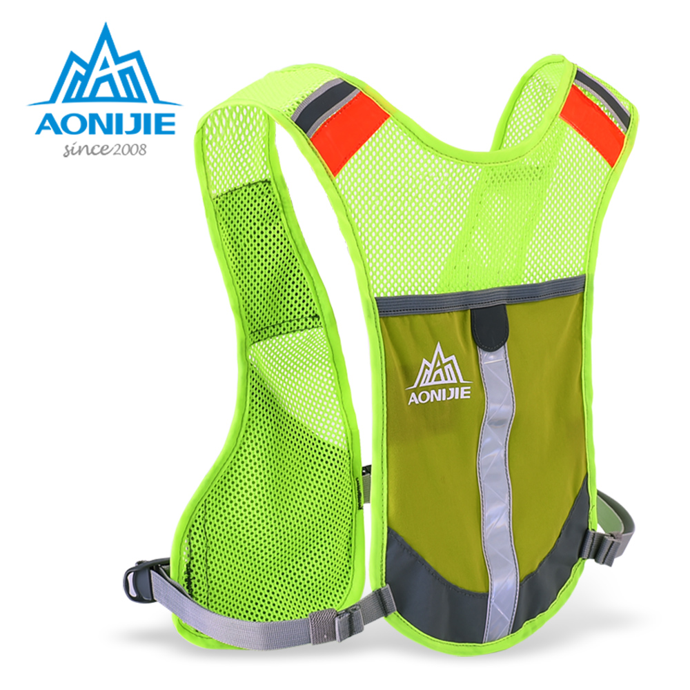 AONIJIE E884 Reflective Hydration Pack Backpack Rucksack Bag Vest Harness Water Bottle Hiking Camping Running Marathon Race