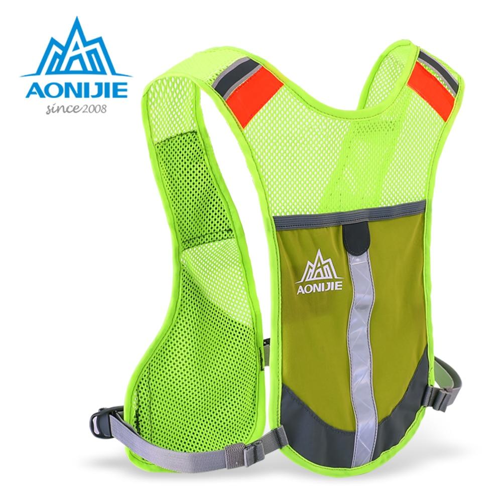 AONIJIE E884 Reflective Hydration Pack Backpack Rucksack Bag Vest Harness Water Bottle Hiking Camping Running Marathon Race