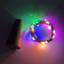1M 2M Copper Wire Fairy Garland Bottle Stopper For Glass Craft LED string lights Wedding Christmas New Year Holiday Decoration