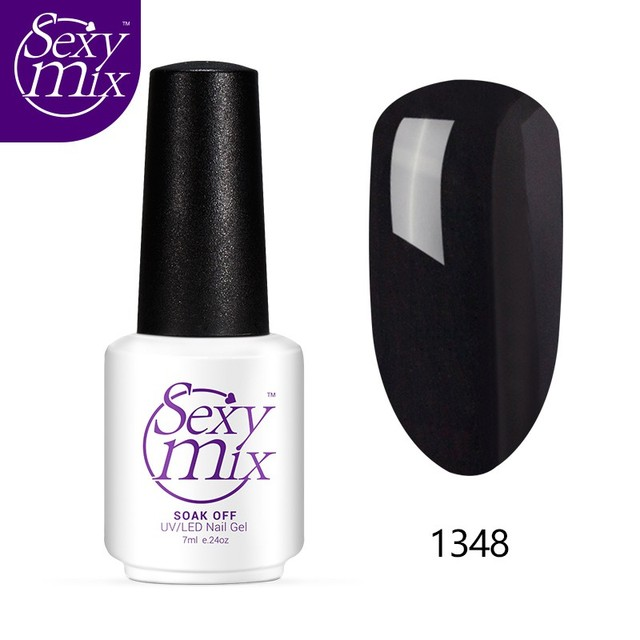 Sexy mix Classic Black Color Nail Gel Lacquer Soak Off UV Gel Nail Polish Use With Chameleon Nail Gel Need UV Lamp Cure