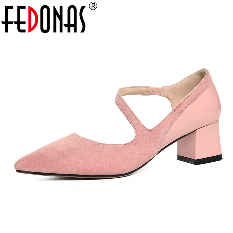 FEDONAS New 2018 High Quality Women Pumps Nude Color Sexy Basic Point Toe Stilettos High Heels Wedding Shoes Woman Suede Pumps new 2017 high quality women pumps nude color sexy basic pointy toe stilettos high heels wedding shoes thin heels suede shoes