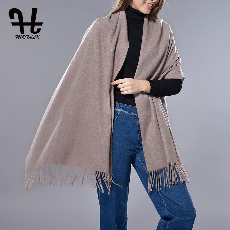 FURTALK 2017 New Fashion Cashmere Scarf s