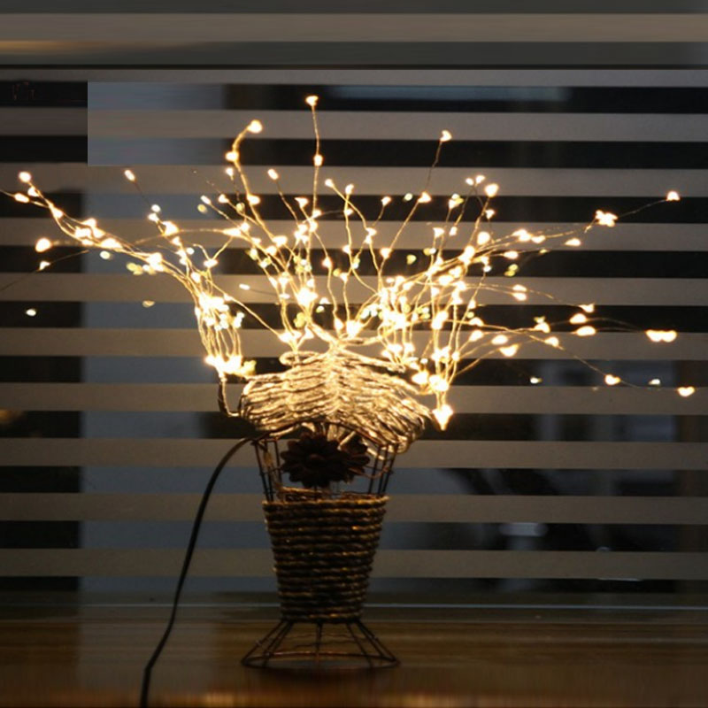 2m 10m 5m led 3aa battery operated copper wire colorful. Black Bedroom Furniture Sets. Home Design Ideas