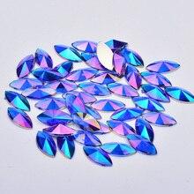 JUNAO 5*10 мм 7*15 мм синий Стразы AB Crystal лошадь; глаза; акрил горный хрусталь аппликации клей для кристалов камни для одежды Ювелирные изделия