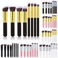 8 unids profesional maquillaje pinceles herramientas set pincéis de uso organizador maquiagem paleta de madera de metal de nylon para maquillaje cepillo