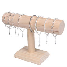 1PCSไม้โซ่สร้อยข้อมือนาฬิกาT BAR Rack JewelryแสดงผลOrganizerขาตั้งpackgaingชั้นวาง