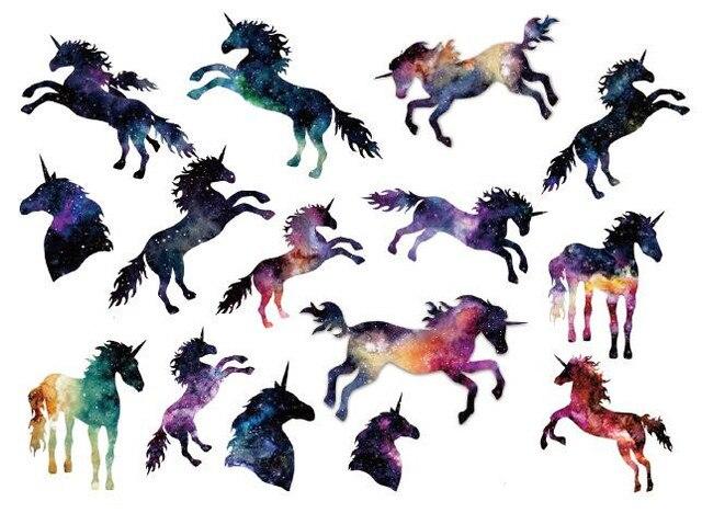 Водонепроницаемый временные поддельные татуировки наклейки акварель Единорог Лошадь Животные C Книги по искусству Ун Дизайн Детские тела Книги по искусству макияжа