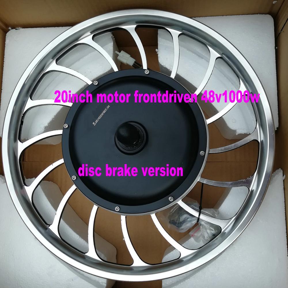 20 pouces BLDC moyeu moteur sans engrenage avec roue avant conduit 36V48V60v72v500w1000w scooter électrique moto vtt bricolage pièces