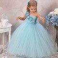 Elegante Lindo Vestidos de Niña Kids Pageant Cumpleaños Fotografía Del Banquete de Boda de Tulle Del Vestido Del Tutú Del Bebé Vestidos de Princesa Traje