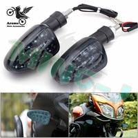 Top Pro Motorcycle Turn Signal Light LED Motorbike Indicator Amber Blinker Lamp Moto Flashers 12V Waterproof