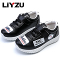 Children 's Casual Pu Leather Shoes  Big Kids Boy Girl School Sneakers Shoes Students Fashion White Black Spring Autumn 2017 New