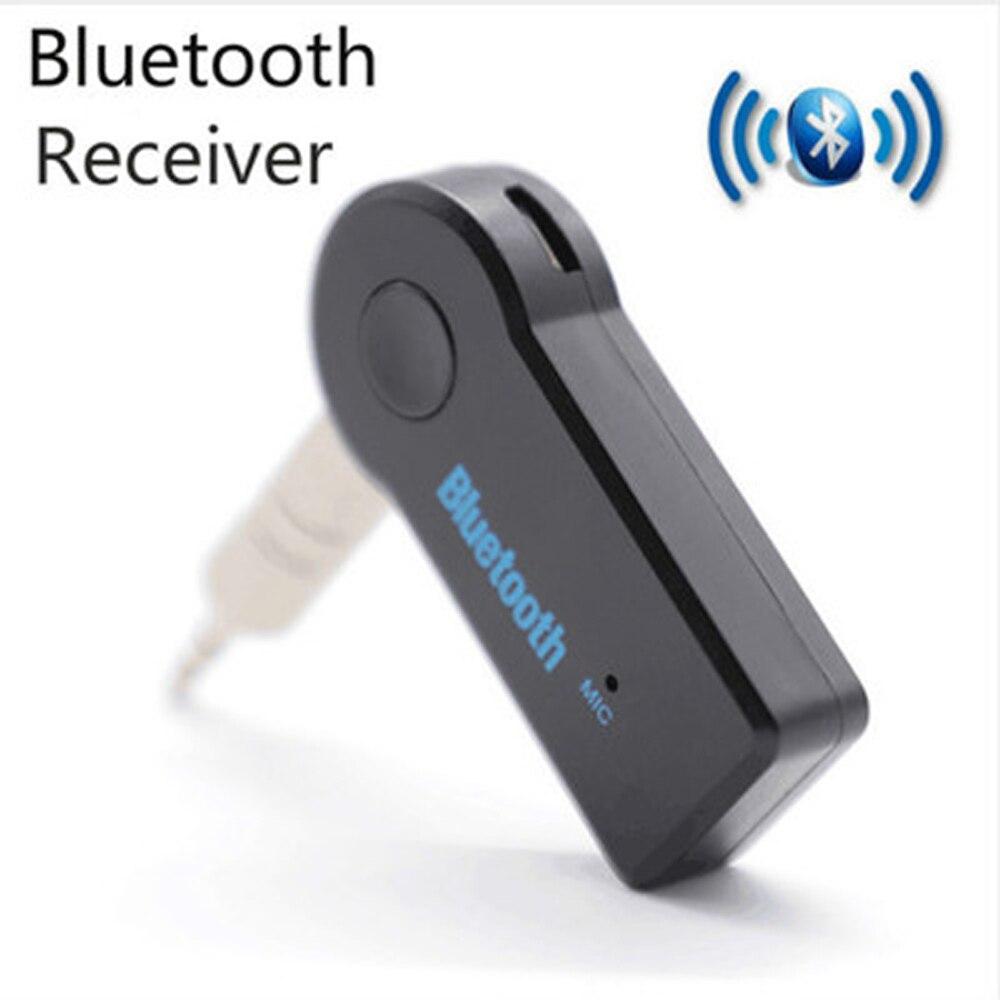 Kebidu Handsfree Car Bluetooth Music Receiver Universal 3.5mm Jack A2DP Plastic Bluetooth Car