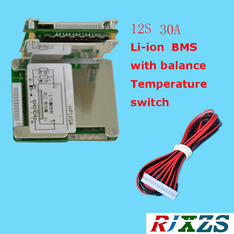 12S 30A lipo lithium Polymer BMS/PCM/PCB battery protection board ...