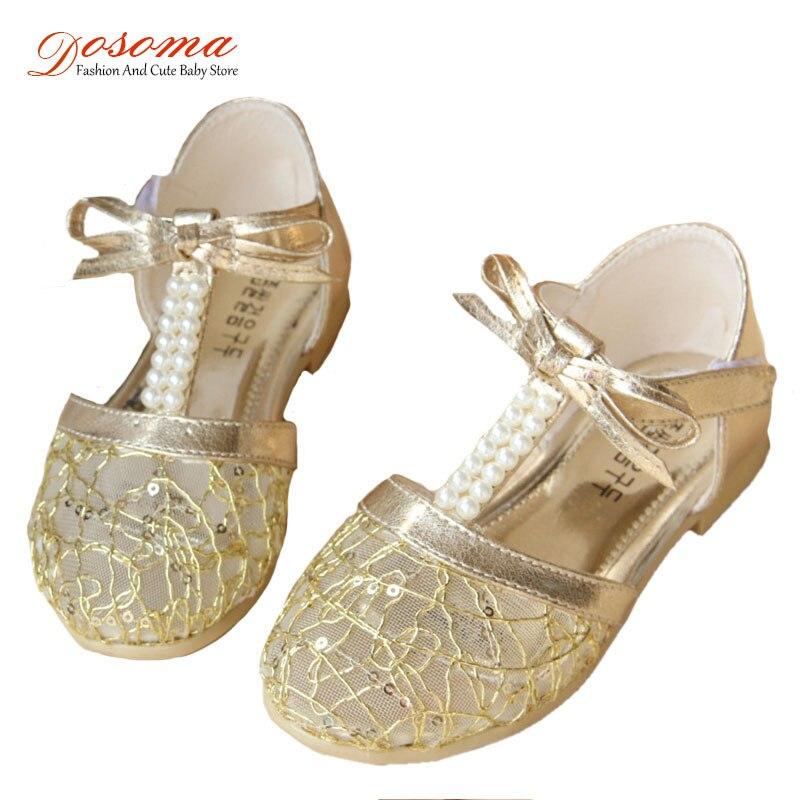 Popular Gold Flower Girl Shoes-Buy Cheap Gold Flower Girl Shoes ...