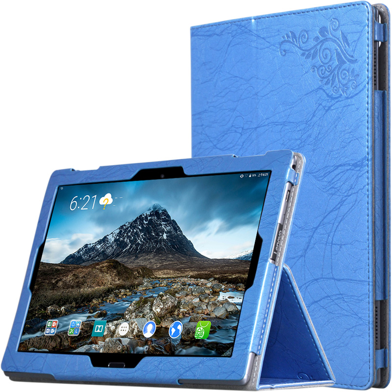 For Lenovo TAB4 10 Print PU Leather Case for Lenovo TAB4 10 TB-X304L TB-X304F TB-X304N Folding Stand Tablet Case+Stylus Pen