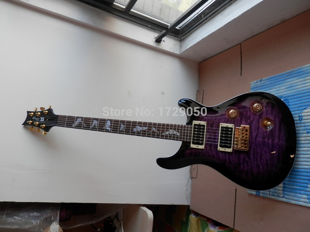 free shipping prs se paul allender electric guitar purple color guitar 19 real photos in guitar. Black Bedroom Furniture Sets. Home Design Ideas