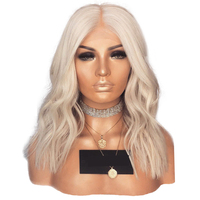 Charisma Short Body Wave Heat Resistant Wigs Synthetic Lace Front Wig 14 Inch Middle Part Glueless Wigs For Women 150 Density