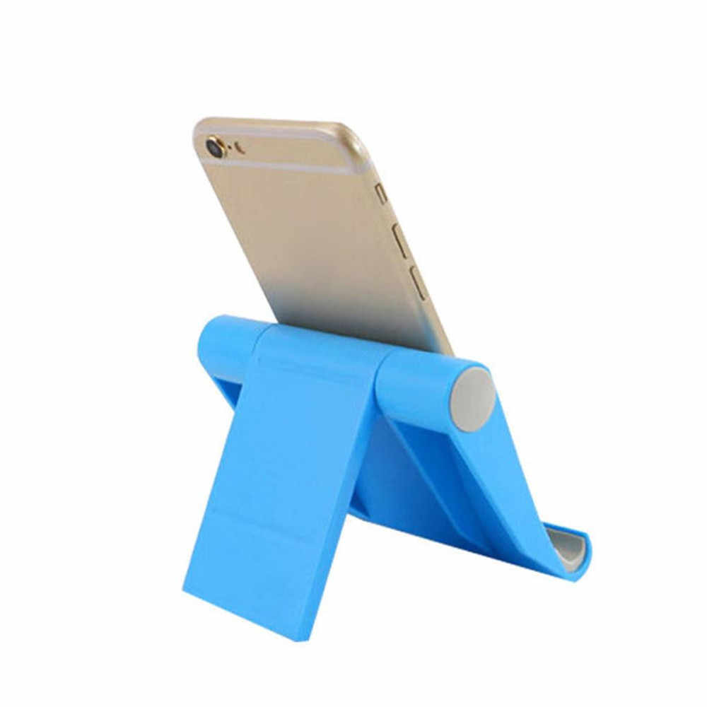 Universal cell phone Holder Foldable Bed Desk Mount Cradle Holder Stand Blue For iPhone 8 7 5S 6S / 6 Plus For Sony HTC xiaomi