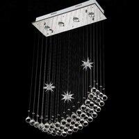60cm(L)*100cm(H) Romantic Morden creative stainless Steel crystal Ceiling lamp dining room Ceiling lamp bedroom Ceiling lamp