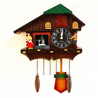 New Europe cuckoo clock bird singing wall farmhouse decor best selling 2018 products gift ideas antique wall watches