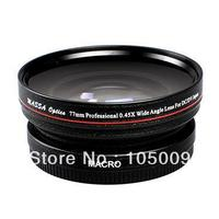 77mm 0.45x 77 mm Wide Angle with Macro Conversion lens for canon nikon pentax fuji olympus black