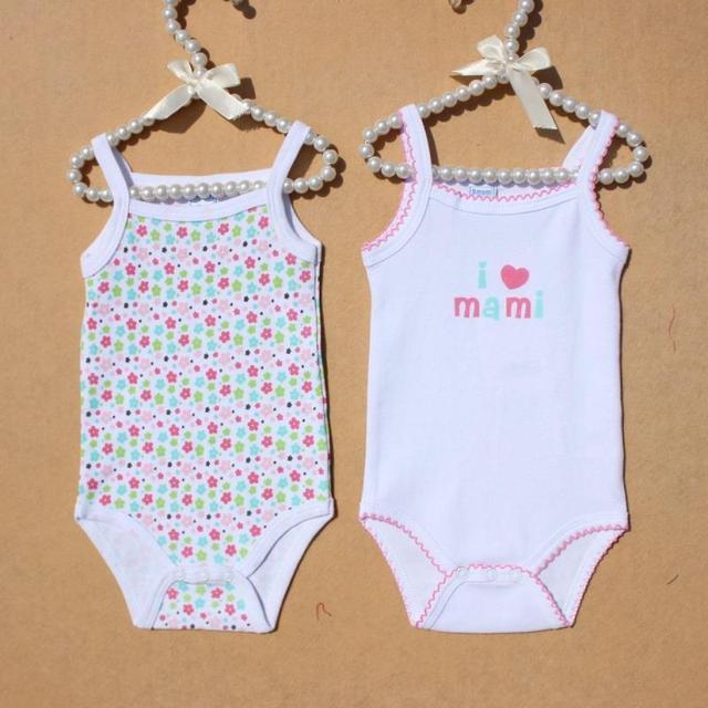 369f3161f Hot female baby fashion 100% cotton spaghetti strap romper baby girl summer  spaghetti strap romper