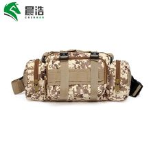 CHENHAO 600D outdoor molle camouflage waterproof military cross-body bag tactical sling pack bag hiking waist pack messenger bag
