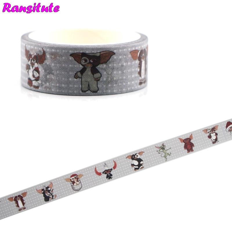 Ransitute R476 Animal Cartoon Washi Tape Traffic Tape Toy Car Decoration Hand Account Sticker Children's Toy Masking Tape