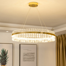 Luxury Diamond LED Chandelier Crystal Lamp Modern Light Fixture Circle Hanging Lustres Decorate Luminaire Home
