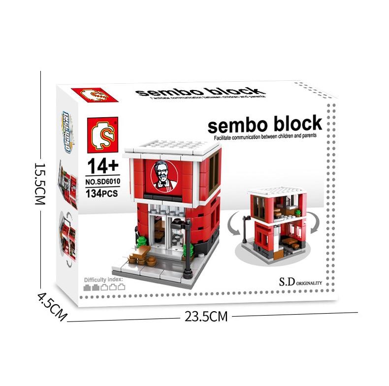 Image 5 - Sembo 601021 Mcdonald Hamburger Fast food restaurant Streetscape Building Blocks Bricks Model toys-in Stacking Blocks from Toys & Hobbies
