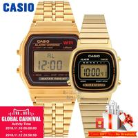Casio retro alarm waterproof couple watch A168WA 1W A159WGEA 1D A159WA N1D