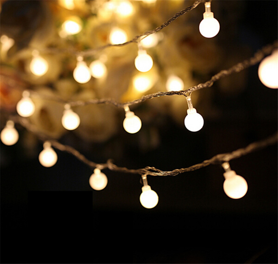 Multicolor Festoon Party Ball LED String Lights 10M 100led Waterproof Wedding Christmas Lights 110V 220V Outdoor Decoration 60m 600 leds 110v 220v waterproof ip65 outdoor multicolor led string lights christmas lights holiday wedding party decotation