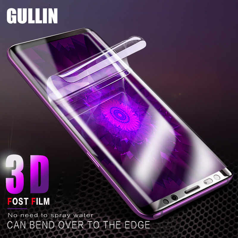 3D Full Cover Soft Protective Film For Samsung Galaxy S9 Plus S8 Plus Screen Protector For Note 8 S7 S6 Edge  Not Tempered Glas
