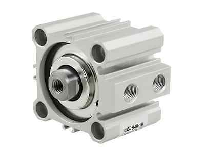 CQ2B40-10 Double Action 40mm Bore 10mm Stroke Thin Air Cylinder разъем на cq vd5005w