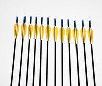 36pcs Lot Target Practice Steel Point Fiberglass Arrows 82cm 30 80ibs Archery Arrows For Hunting Hunter