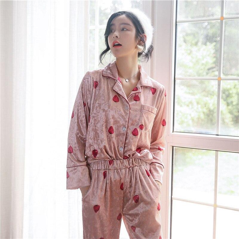 3944b99b8cd 2019 2018 New Night Wear Women Lounge Wear Pajamas Women Winter ...
