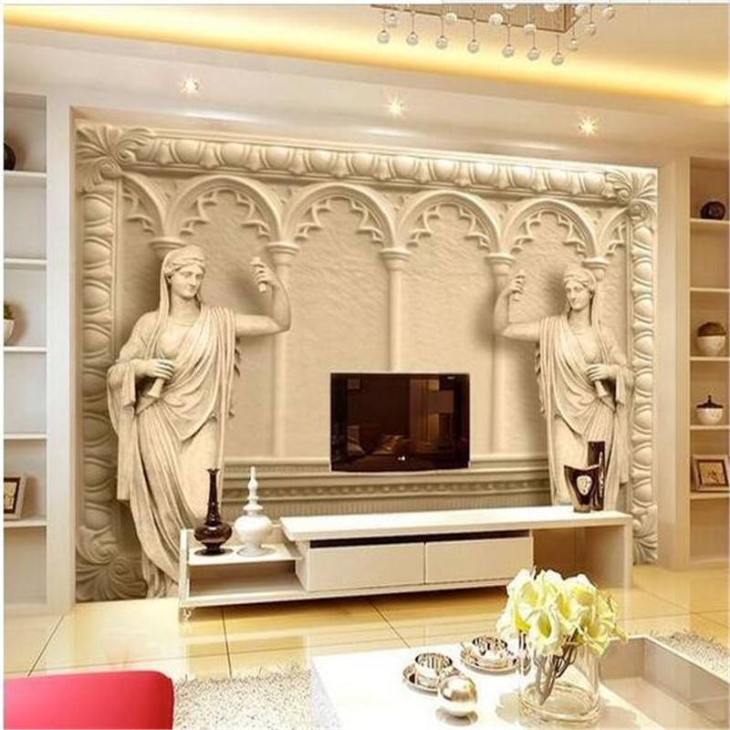 Custom photo wallpaper 3d continental mural reliefs for Custom mural wallpaper