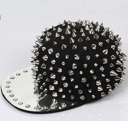 Alta qualidade Bigbang personalidade jazz tampão do chapéu do snapback Homens/Mulheres estilo de Spike Studs Rivet Cap Hat Punk Rock Hiphop Para Pick