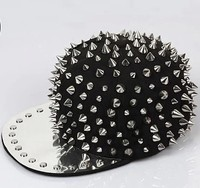 Hoge kwaliteit Bigbang persoonlijkheid jazz hoed Mannen/Vrouwen Spike Studs Rivet Glb Punk stijl Rock hiphop hoeden