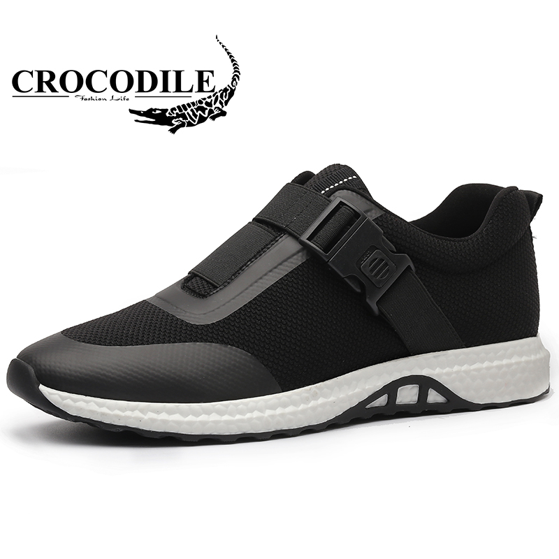 Crocodile 2018 Summer Men's Sports Shoes Air Mesh Leisure Men Running Shoes Ventilation Breathable Light Male Sneakers instantarts women flats emoji face smile pattern summer air mesh beach flat shoes for youth girls mujer casual light sneakers
