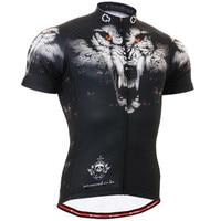 LA VIE SUR LA BONNE VOIE Mens Bike Jersey Montagne Vélo De Route À Manches Courtes Loup Cyclisme Vêtements Professionnel vêtements de Sport Ciclismo