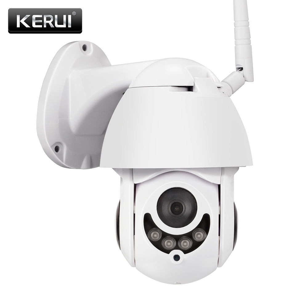 Russian Spain Stock Delivery!KERUI Outdoor Waterproof Wireless 1080P 2MP PTZ WiFi IP Camera Speed Dome Camera CCTV Surveillance