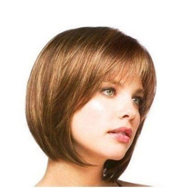 peruca hair queen Heat Resistant Cosplay party TJ *****New Fashion Short Light Brown Like human made hair women's full wig