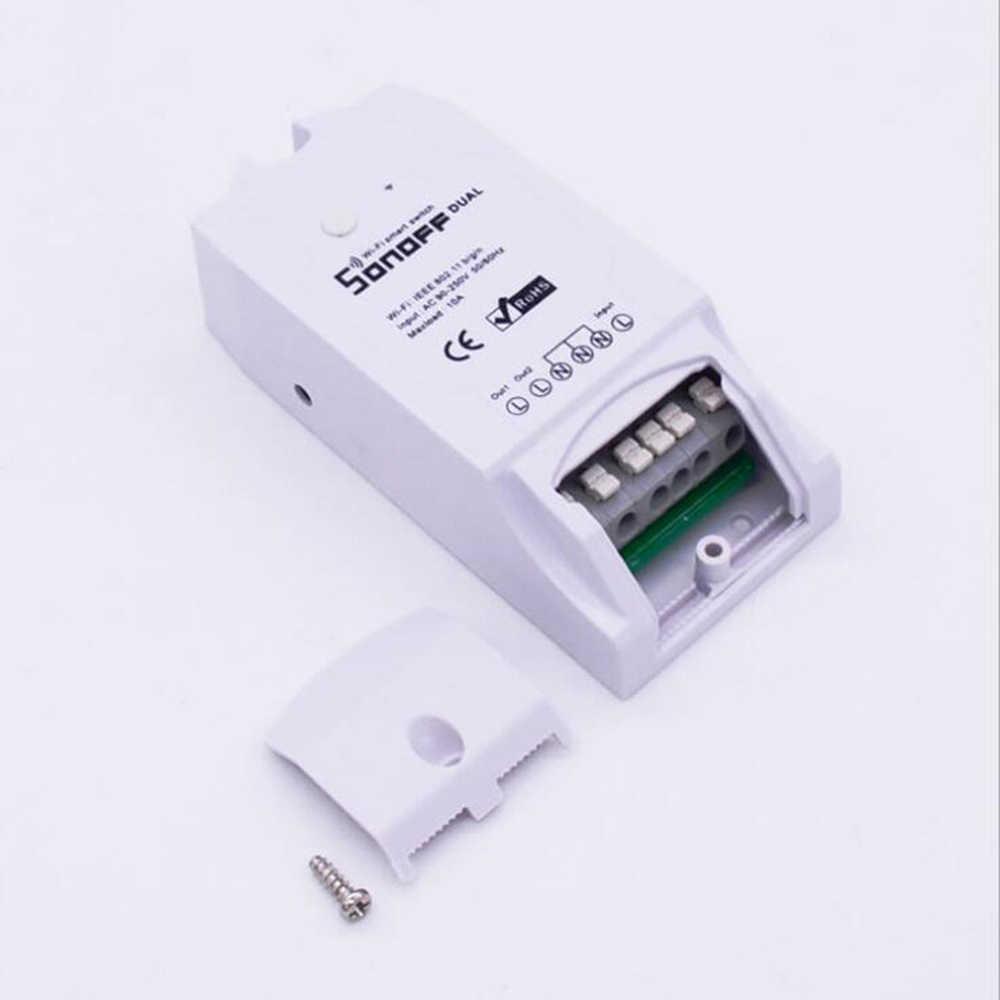 Sonoff Pow R2 16A Smart Dual Wifi inalámbrico inicio Monitor de medición de voz interruptor de alimentación Control de voz hogar controles de automatización