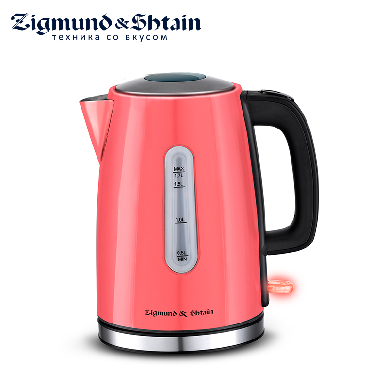 Zigmund & Shtain KE-712 Electric Kettle 2200W 1.7L Water level scale Case material stainless steel прокладки libresse дэйлифреш плюс нормал део 32шт ежедн