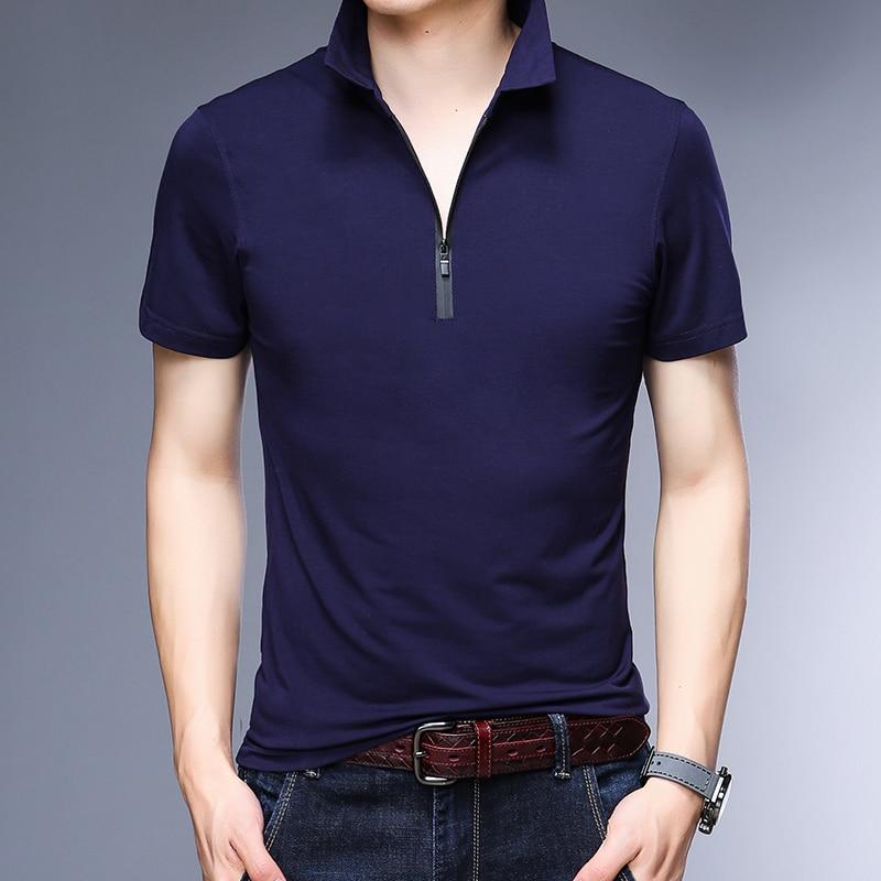 New 2018 summer mens slim plain color polo shirts male fashion design pure cotton short sleeve polos clothes 5