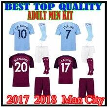 c00e9b432 ... adult kit 17 18 MAN CITY SOCCER JERSEY KITS+socks KUN AGUERO STERLING  MENDY 2017 .
