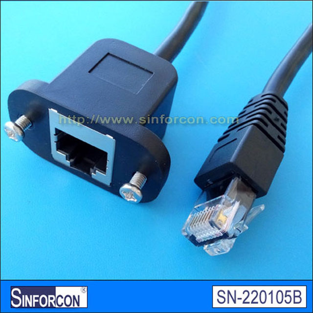 Online Shop rj45 female socket to rj45 male gender changer ethernet ...